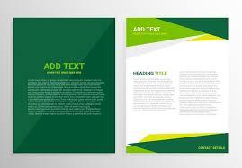Brochure Template Design Free Green Brochure Template Design Download Free Vectors