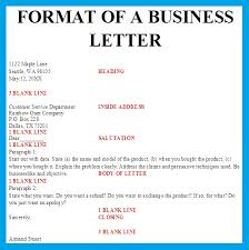Personal Business Letter Format Block Style Business Letter Template