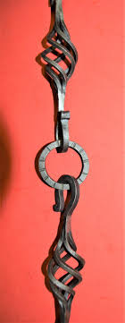 Beleuchtung Kronleuchter Lampe Korb S Haken Kette Und Ring Handgefertigte Schmiedeeisen 16 Viel 3 Stück Von Blacksmith Usa