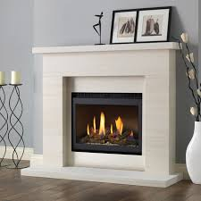 pureglow drayton limestone fireplace suite with chelsea built in gas fire fireplaces are us