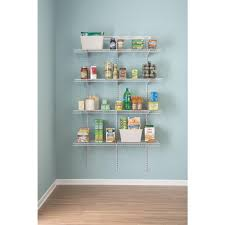 closetmaid shelftrack 16 75 in d x 48 in w x 80 in h white wire utility steel closet system kit