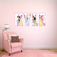 Personalised name disney princess wall sticker decal by ...
