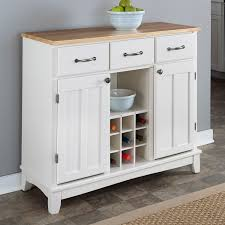 white wine rack cabinet. Natural Wood Top Kitchen Island Sideboard Cabinet Wine Rack In White C