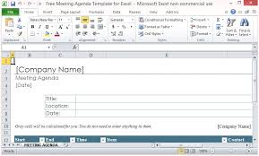 Microsoft Excel Free Templates Free Meeting Agenda Template For Microsoft Excel