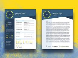 Resume And Cover Letter Templates Free Free Infographic Cv Resume Template With Cover Letter In