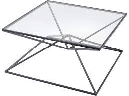 piramide black metal and glass coffee table