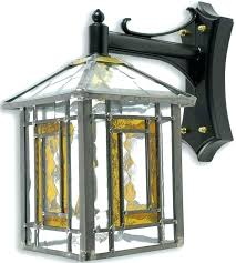 stained glass outdoor wall lights glass outdoor lighting lighting transitional 1 light black outdoor wall lantern