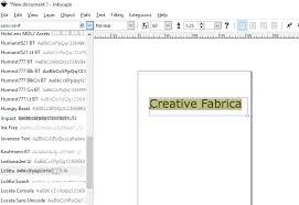 Apps that support creation and viewing of these files such as inkscape provide entry birdfont is a free font editor which lets you create vector graphics and export ttf, otf, eot and svg fonts. How To Use Installed Fonts In Inkscape Creative Fabrica