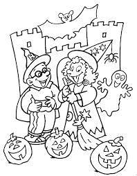 Halloween Kleurplaten Voor Halloween Van Pompoenen Spookhuizen En