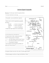 Ancient Egypt Geography Worksheet for 6th - 8th Grade | Lesson Planet