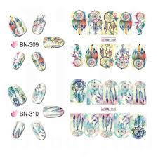 Wind Woman Designs Us 1 0 21 Off 12pcs Lot Mixed Designs Wind Chimes Water Transfer Nail Art Stickers Dream Bright Color Decals Woman Make Up Tools Jibn301 312 In