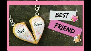 Tuto Fimo I Best friend, pendentif amitié - YouTube