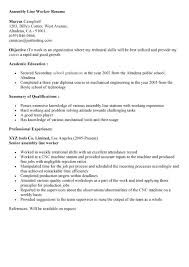 20 production line worker resume samples entry level assembly line worker  resume sample - Sample Mechanical