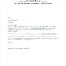Formal Job Offer Template Conditional Offer Of Employment Letter Template