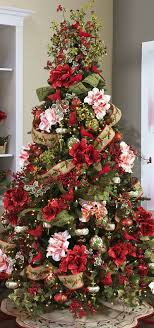 Christmas Tree  Red Birds Flowers love the blend of holly and the burlap  giving it