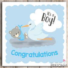 Card For Baby Boy New Baby Boy Card Congratulations Parents Its A Boy Card New Arrival Birth Ebay