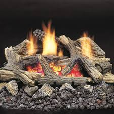 monessen aged hickory ventless gas logs remote ready 24 inch only natural gas