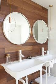 double vanity lighting. Pendant Modern Bathroom Lighting With Double Sink Vanity Under Framed Round Mirror And Wooden Wall H