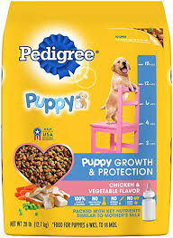 Pedigree Puppy Growth Protection Dry Dog Food Chicken Vegetable Flavor 28 Lb Bag Discontinued By Manufacturer