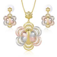Dubai Gold Designs Online Hot Selling Dubai Gold Jewellery Designs Jewelry Sets Women