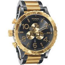mens nixon watches gunmetal new authentic nixon watch mens 51 30 chrono gunmetal gold a083 595 a083595