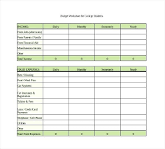 Early Retirement Budget Template Worksheet Monthly