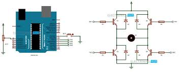 controlling speed and direction of dc motor using arduino speed and direction control of dc motor using arduino circuit diagram