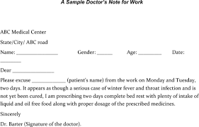 Download Sample Doctors Note For Legal Work Template Pdf