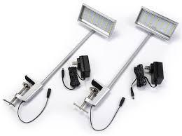 Led Display Arm Lights Set Of 2 Led Flood Lights For Trade Show Backwalls 12 Watt Silver