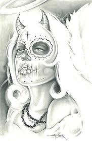 Angel Sketch Amazon Com Mexican Angel By Spyder Sexy Devil Sugar Skull