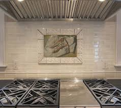 Metal Wall Tiles For Kitchen Kitchen Tile Murals Pacifica Tile Art Studio