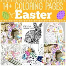 Easter Wreath Coloring Pages Kid Books Pinterest Easter