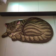 Kitchen Floor Rugs Washable 8545cm Hot Cat Shape Home Decorative Mat Anti Slip Bedside Rugs