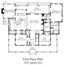 First Floor Plan Of Country Historic House Plan 73854  Dream Historic Homes Floor Plans