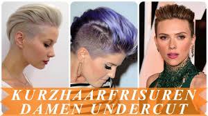 Schone Undercut Frisuren Frau Kurze Haare 2018 Youtube