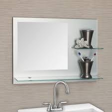Frameless Beveled Mirror For Bathroom — New Home Design