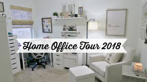 Neutral office decor Female My Home Office Tour For 2018 New Paint Decor More Neutral Color Palette Youtube My Home Office Tour For 2018 New Paint Decor More Neutral