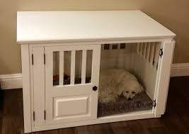 furniture pet crate. White Dog Lying In A Ash Custom Crate Furniture Pet R