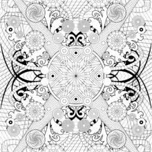 Rosette Intricate Patterns Coloring Pages