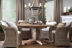 dining room upholstered chairs dining room chairs with arms with material rattan and round wooden table
