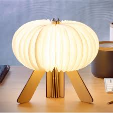 R Space Led Desk Lamp Wireless Rechargeable Maple
