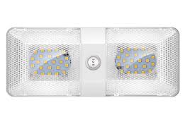 Amazon Rv Interior Lights Bluefire 1 Pack Upgraded Super Bright Dc 12v Led Rv Ceiling Double Dome Light Rv Interior Lighting Trailer Camper Rv Lights Interior With On Off