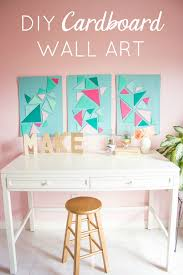 how cool is this cardboard craft idea make modern wall art out of a cardboard