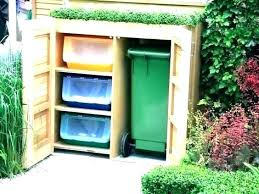 outside trash can storage outdoor garbage can storage bin garbage storage shed trash can storage shed