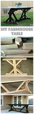 diy outdoor farmhouse table. 1000 Ideas About Farmhouse Table On Pinterest Diy Outdoor .