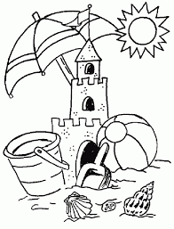 A small handful of summer coloring pages like seashells, a beach, a bumblebee, and a butterfly, can be printed off the holiday crafts and creations website. Ektypwste Xrwmoselides Me 8ema To Kalokairi Summer Coloring Sheets Summer Coloring Pages Beach Coloring Pages
