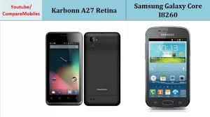 Karbonn A27 Retina VS Samsung Galaxy ...