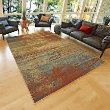 quality modern abstract area rug multicolor