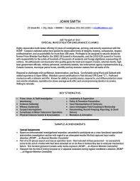 social investigator resume template premium resume - Sample Investigator  Resume