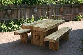 image of outdoor dining table wood rustic